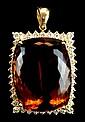 An 82 Carat Citrine & Diamond Pendant