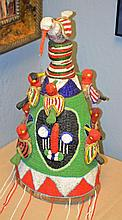 African Beaded Hat