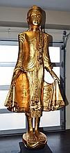 Gold Gilt Buddhist Statue