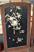Oriental Bone and Stone Inlaid Wall Panel #2