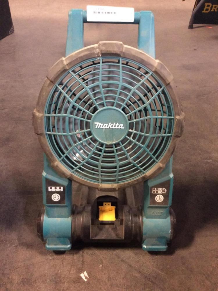 Battery Operated Fans : Makita battery operated standing shop fan