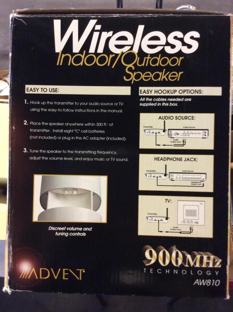 Advent Wireless Indoor Outdoor Speaker Manual