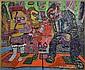 Jay Michael Schwartz Subway Mixed Media on Canvas