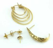 Marked 14k Gold Earrings & Singles