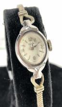 20th C. Elgin 14k White Gold Ladies Watch