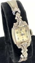 14k White Gold & Diamond Ladies Watch