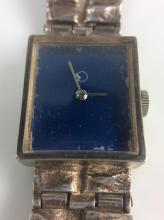 Vtg. Sterling Silver Watch & Band