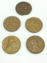 5pc. Error Pennies
