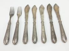7pc. 19th C. Marked Flatware