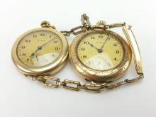 2pc. Elgin Gold Plated Watches