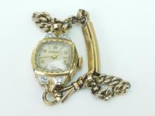 Ladies Bulova 10k Gold Filled Diamond Watch