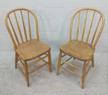 2pc Spindle Back Side Chairs