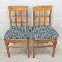2pc Rush Seat Side Chairs