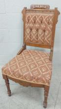 20th C. Tufted Upholstered Side Chair