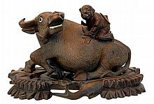 Chinese Boxwood Water Buffalo Carving