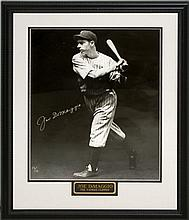 Joe DiMaggio Autograph Yankee Baseball Photo, COA