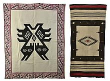 Chilean Tablecloth and Mexican Rug