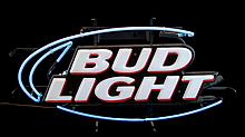 Bud Light Neon Advertising Sign