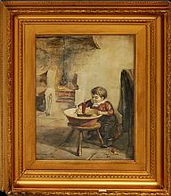 Christiana P. Ross (1843-1906) Watercolor Painting
