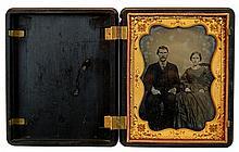 Tintype Portrait of Man & Woman