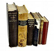 6 Volumes Scott, Fielding, Fasquelle, Wordsworth Book Lot