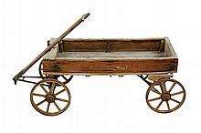 Antique White Wagon Works Coaster Express Wagon