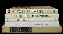 (5) Pc. Collection of Art Books & Nancy Reagan