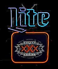 Miller Lite Super Bowl XXX Neon Advertising Sign