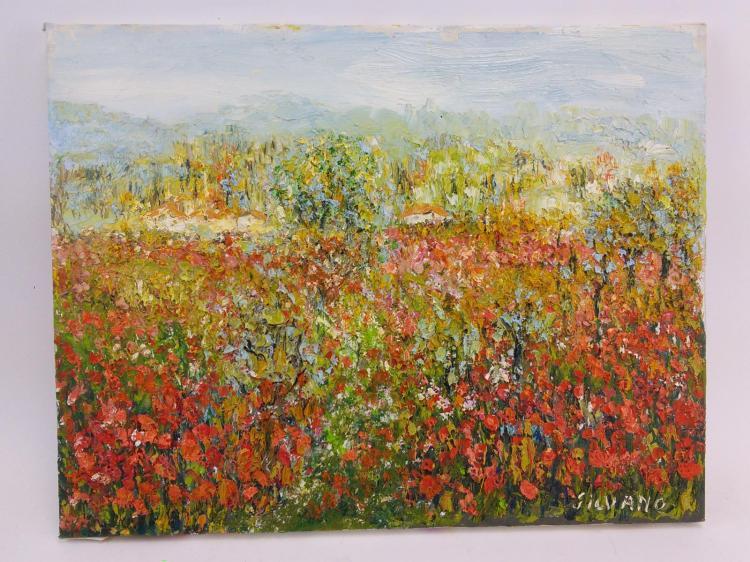 Silvano Floral Landscape Oil on Canvas
