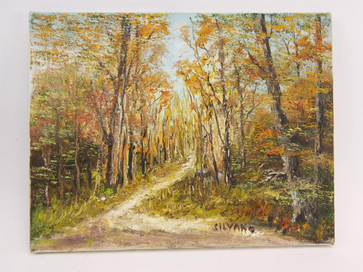 Silvano Forest Path Oil on Canvas