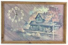 Railroad Station Print Clock