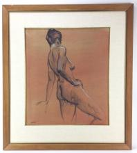Richard Treaster, Nude Female Charcoal on Paper