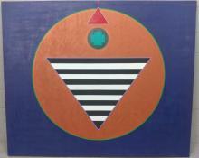"Doug Coffin ""Santa Fe"" Acrylic on Canvas"