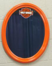 Harley Davidson Orange Oval Frame Mirror