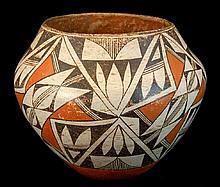 Antique Acoma Polychrome Pottery Vessel #1