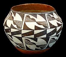 Antique Acoma Polychrome Pottery Vessel #4