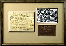 1844 Receipt for Dental Services for Negro Slaves