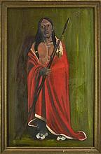 Eanger Irving Couse (1866 - 1936) Oil on Canvas Painting of a Native American