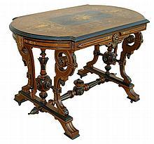 American Renaissance Revival Parlor Table