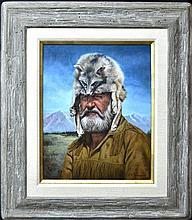 Painting on Canvas, Mountain Man, K.M. Freeman