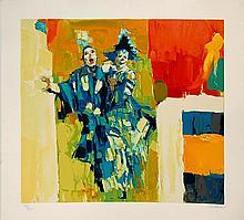 Nicola Simbari Deux Clowns Serigraph
