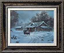 Lithograph on Canvas, Ted Blaylock, #115/400, 1979