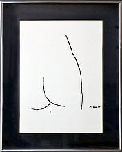 Picasso Lithograph, Fragments de Corps de Femme