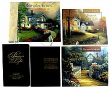 5 Books, (4) Thomas Kinkade, (1) Ralph L. Woods