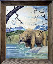Vintage Oil Painting, Bear by Juan R Parker