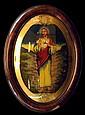 c.1910 Reverse Painted Jesus Picture