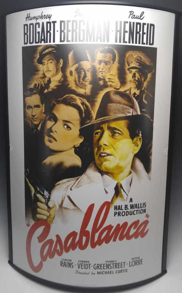 20th c casablanca convex movie poster frame