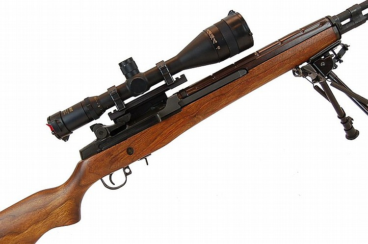 Garand M1A .30 Springfield Scoped Sniper Rifle