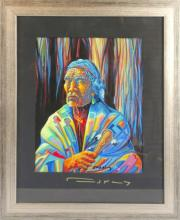 Signed Colorful Native Mixed Media