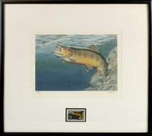 Al Agnew Fish Stamp Lithograph